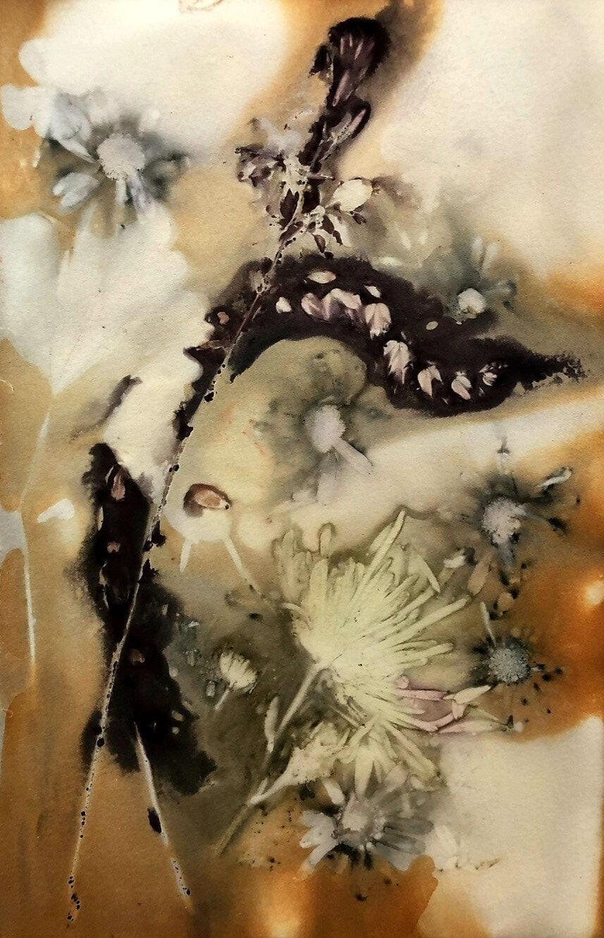 SueShaw-FlowerNo.2-EcoprintOnPaper-19x28cm-unframed