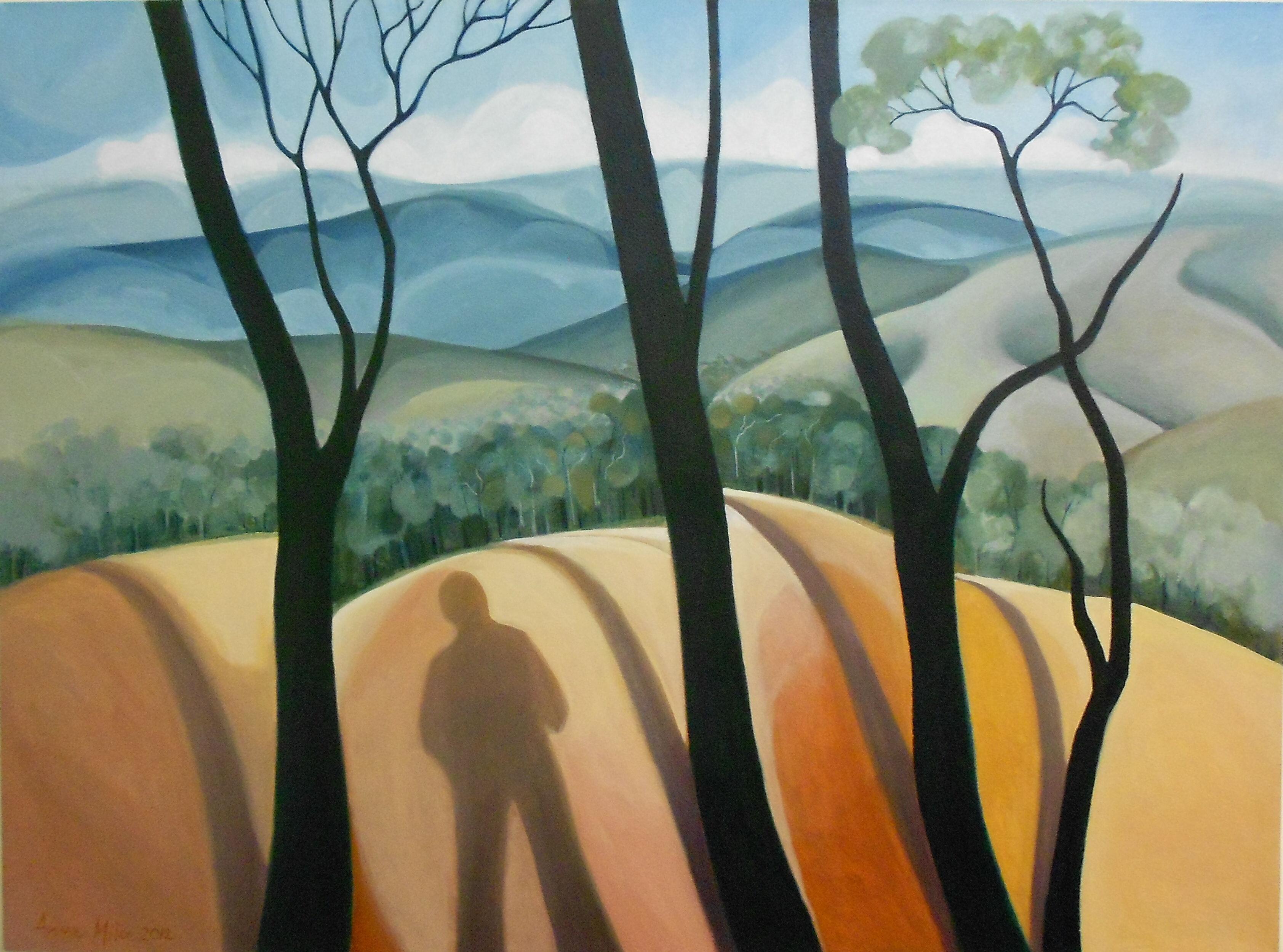 Charred Shadows - 150 x 110cms - Oil on canvas